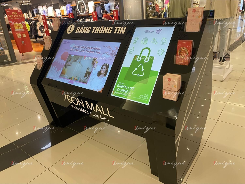 dự án thi công lắp đặt màn hình quảng cáo tại aeon mall long biên