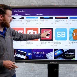 màn hình LCD treo tường cảm ứng